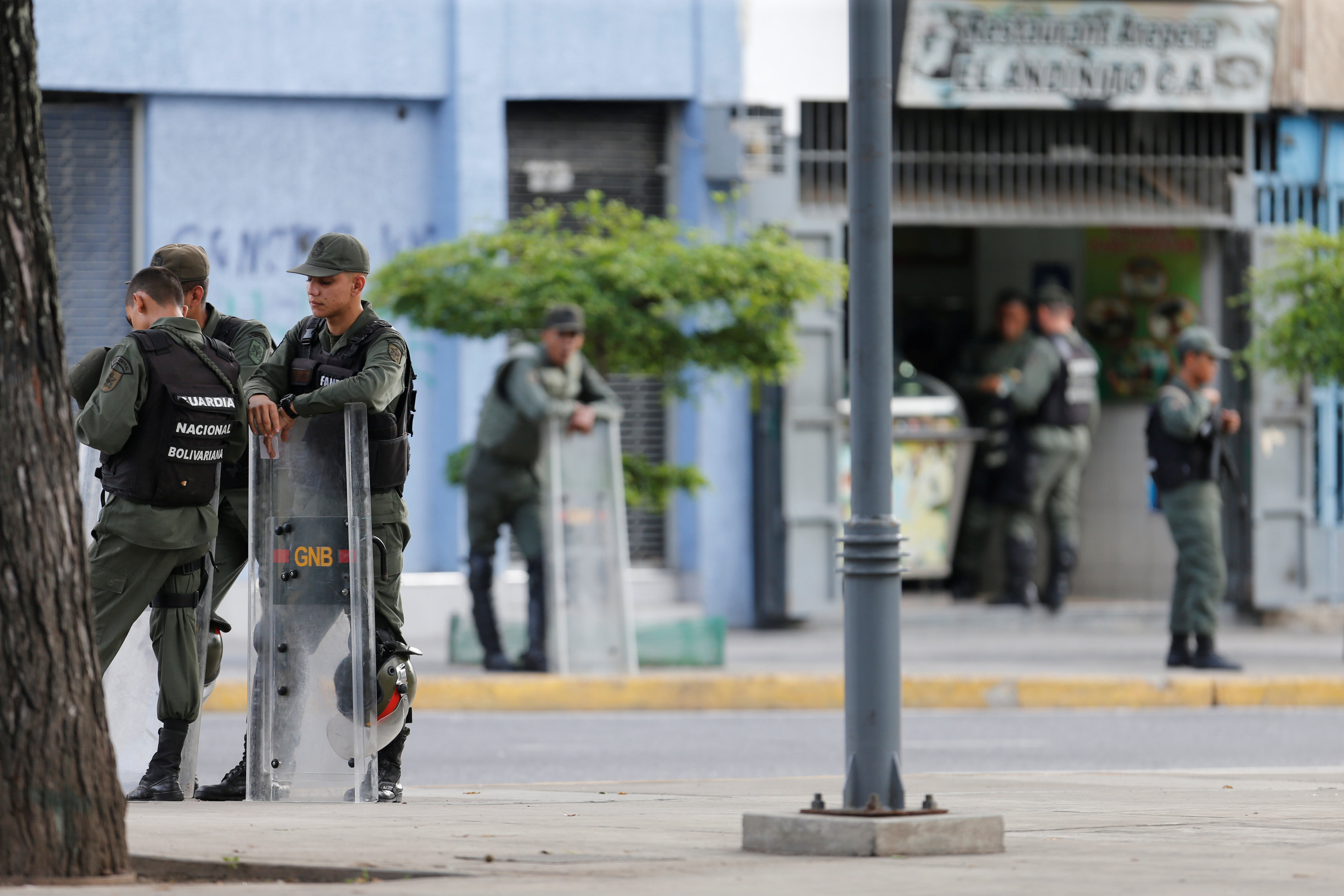 In pictures: Crisis-hit Venezuela forces guard prosecutors office
