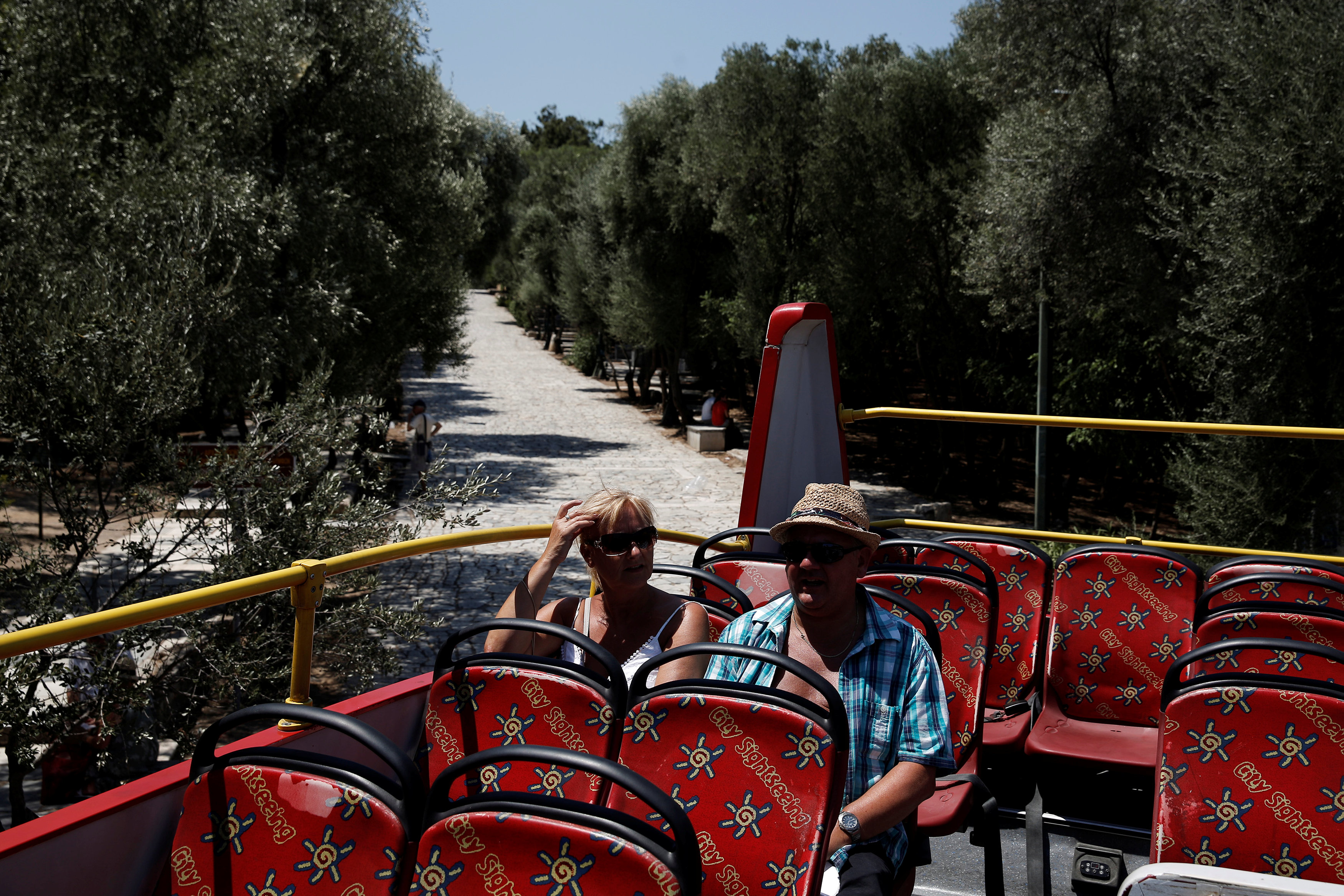 In pictures: Tourists visit Greece archaeological site of Acropolis hill