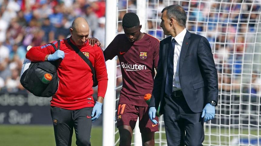 ديمبلي يغيب عن برشلونة لمدة 3 أشهر للإصابة
