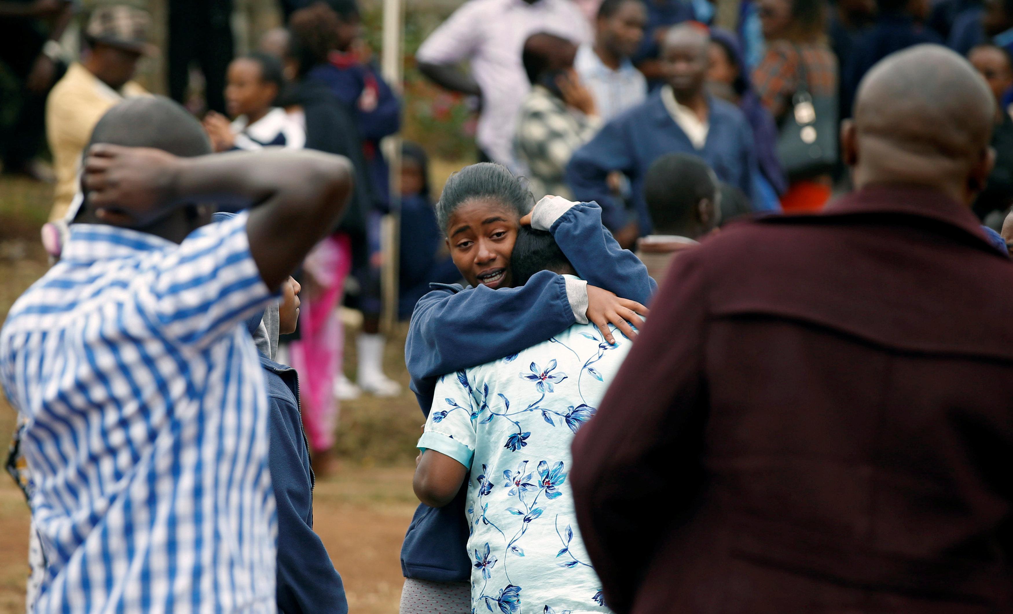 In pictures: Fire at boarding school dormitory in Nairobi, Kenya