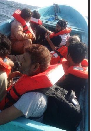 بالتفاصيل: مواطن ينقذ 20 أجنبيا غرقت سفينتهم بالجازر