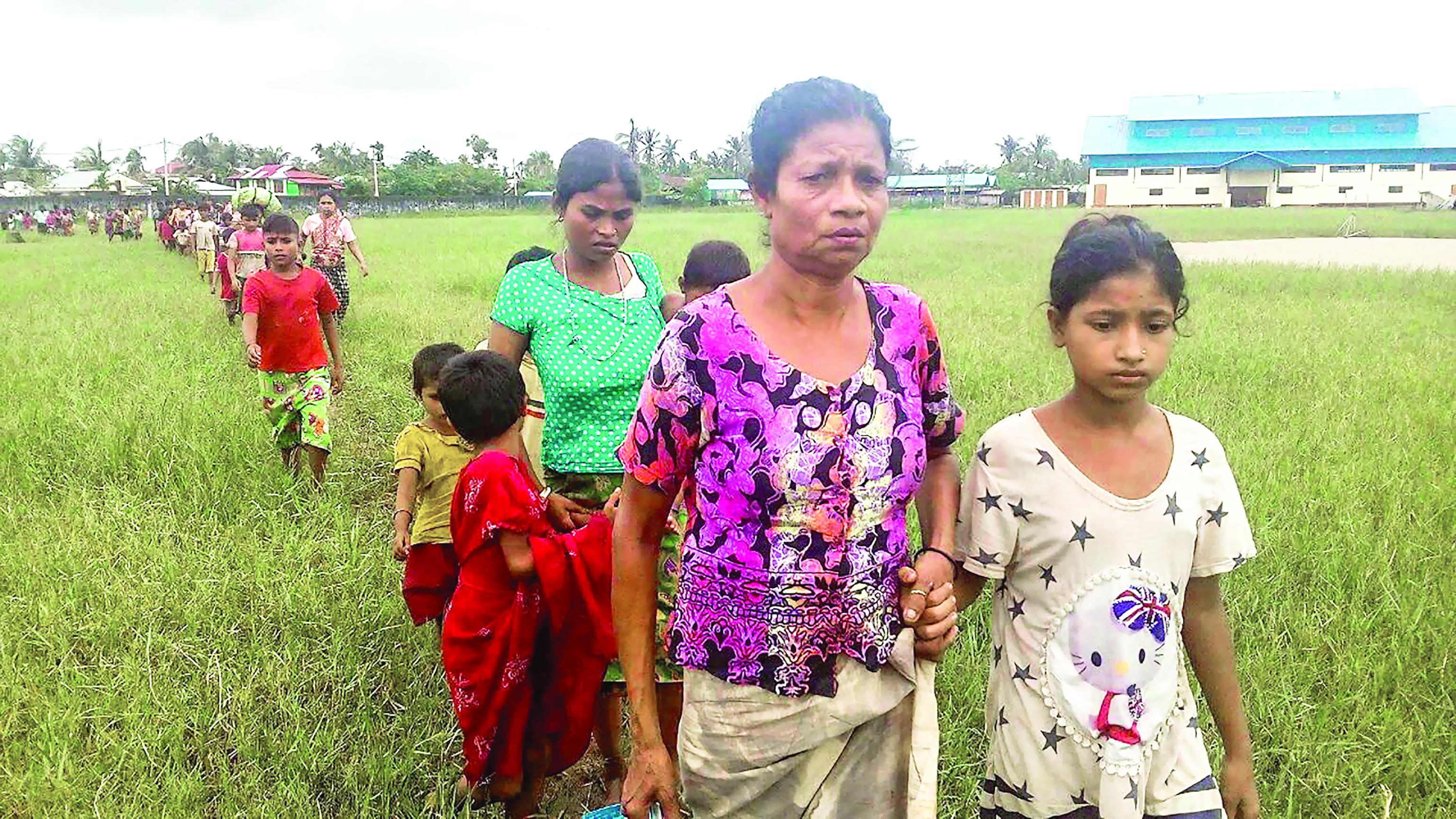 للحيلولة دون عودة الروهينجا الذين فروا من العنف ميانمار تضع ألغامًا قرب الحدود مع بنجلاديش