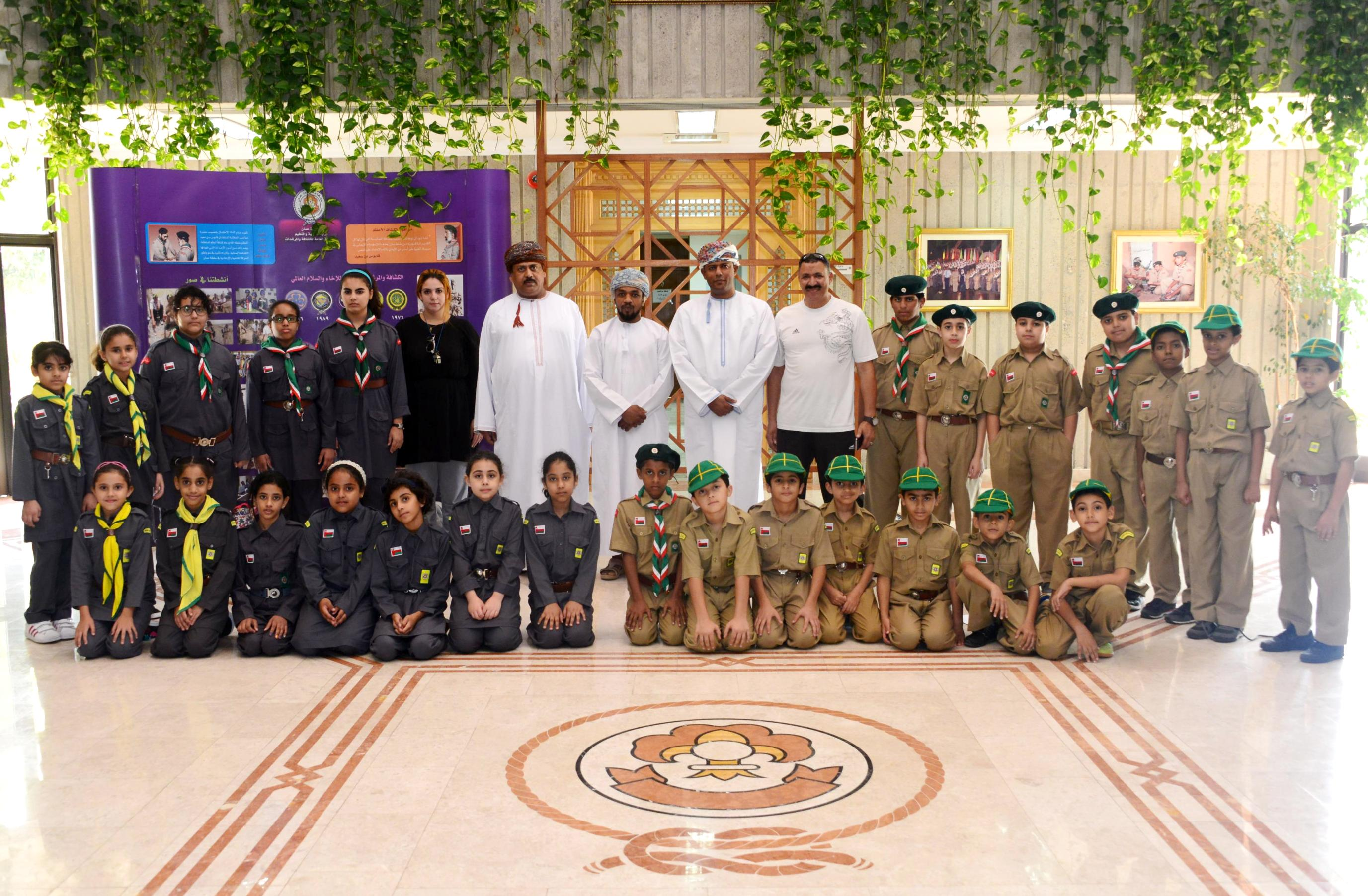 وحدة أشبال وزهرات مدرسة السلطان قابوس الخاصة  تزور مبنى الكشافة والمرشدات