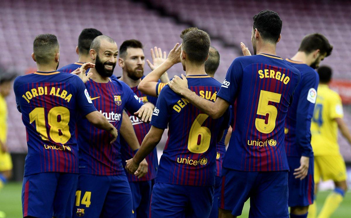 ميسي يؤمن صدارة الليجا لبرشلونة بعد الفوز على بالماس بالثلاثة