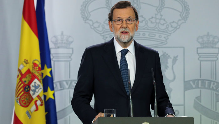 Spain gives Catalan leader 8 days to drop independence