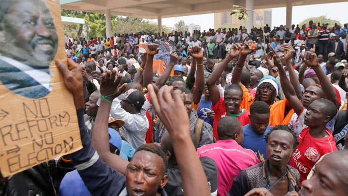 Kenya vote in balance as crisis deepens after Odinga quits