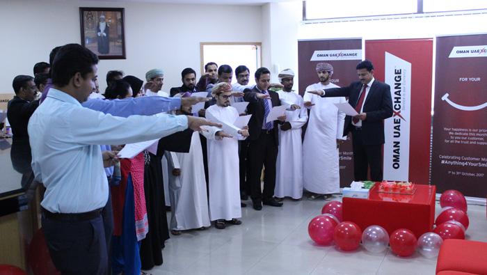 Oman UAE Exchange celebrates October as Customer Month