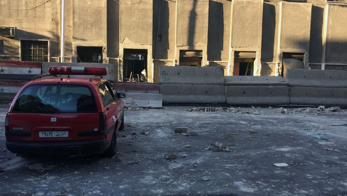 Suicide bombers attack Damascus police centre: Syrian state media