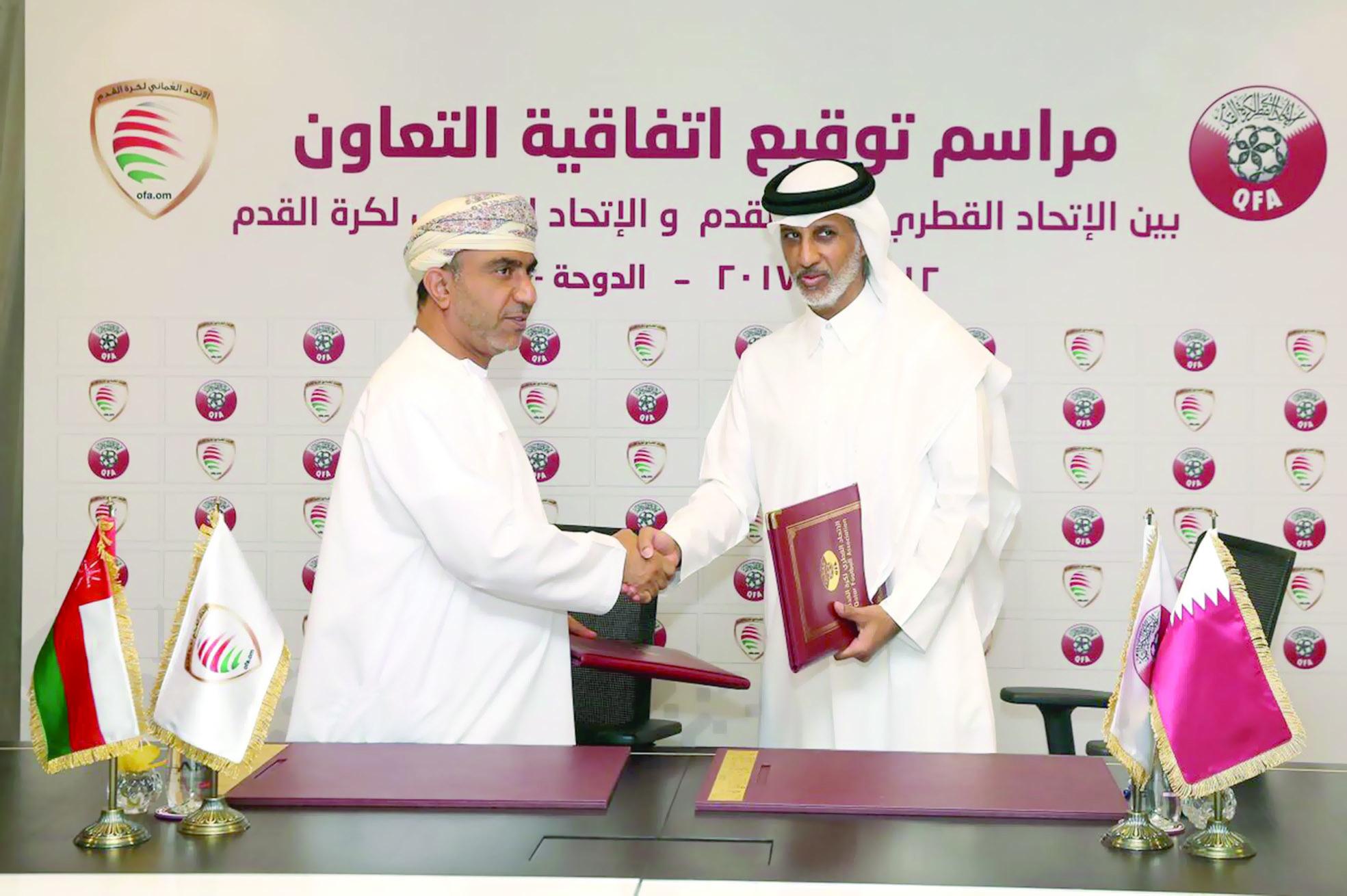 لتطوير كرة القدم فنيا وطبيا ولوجستياالعُماني يوقع مع نظيره القطري اتفاقية تعاون شاملة