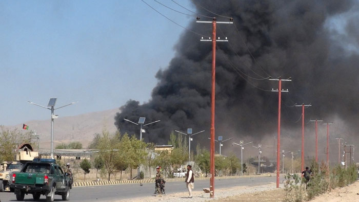12 killed in Taliban suicide attack on provincial Afghan police headquarters