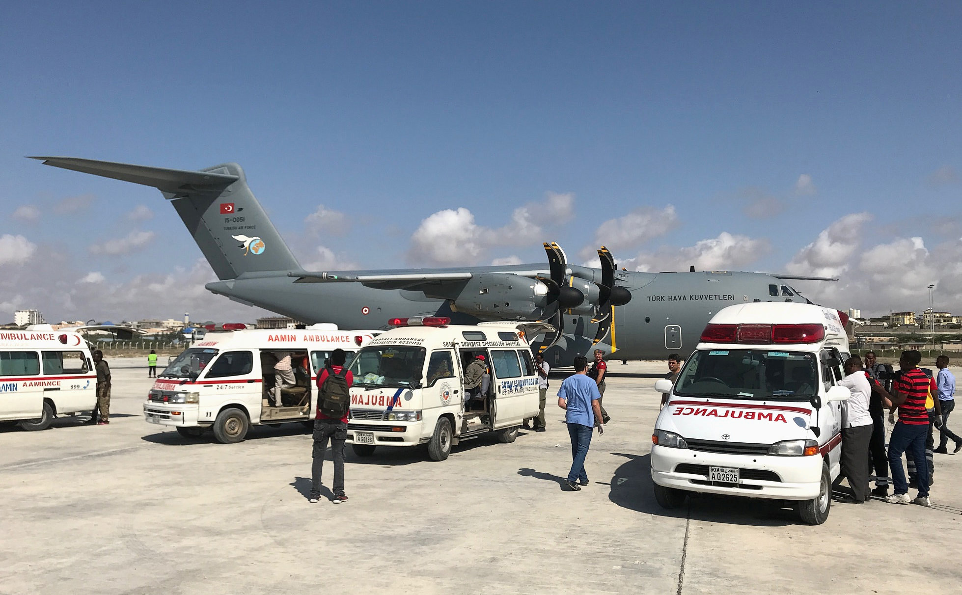 Somalia appeals for blood donations, medical assistance after truck bombing