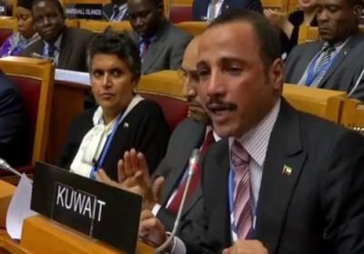 """بالفيديو: رئيس مجلس الأمّة الكويتي """"يَطرد"""" الوَفد الإسرائيلي"""