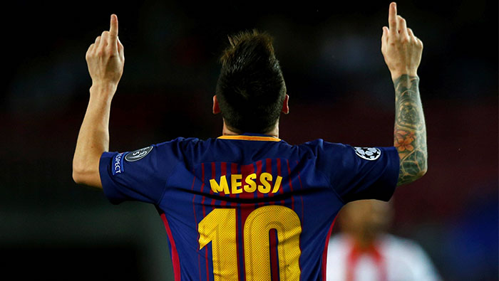 Football: Messi joins 100-goal club in Europe in Barca stroll