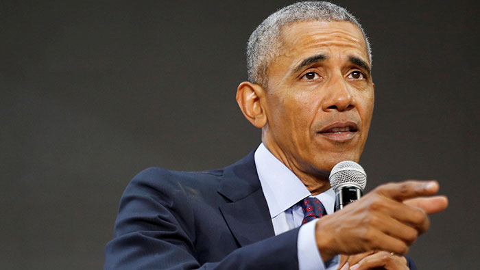 Obama hits campaign trail for first time since leaving White House