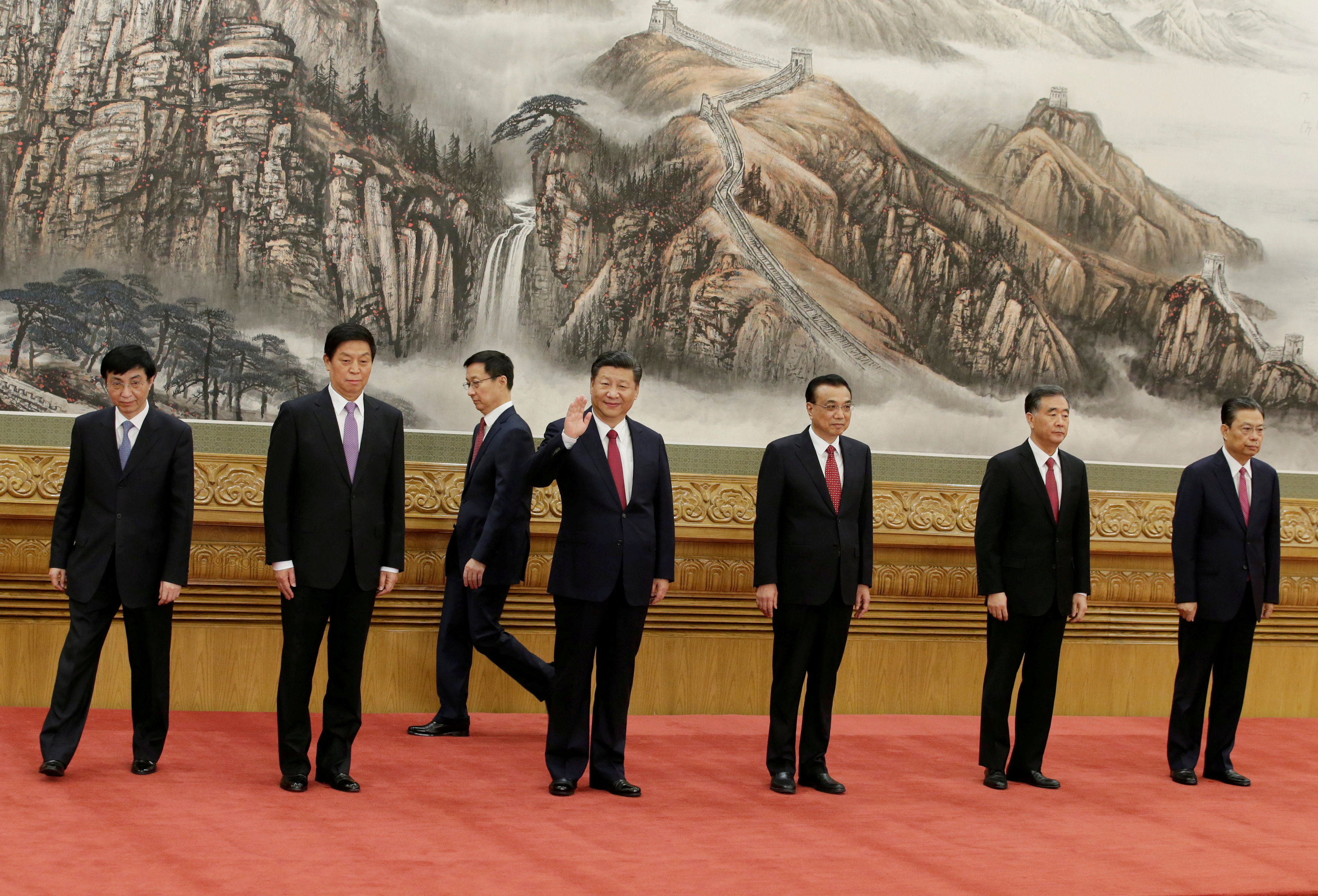 China unveils new leadership line-up without clear successor to Xi