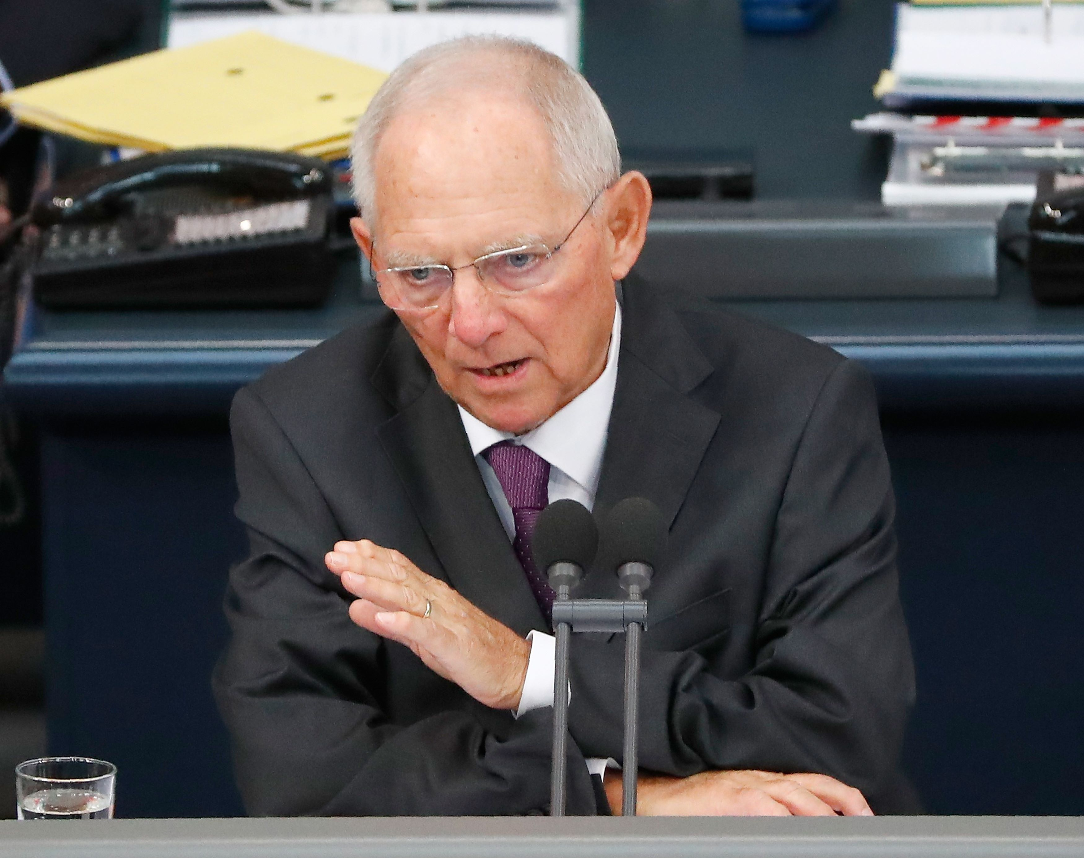 Don't blame others for your problems, Germany's Schaeuble tells Greece