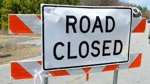 Road closure warning in Oman
