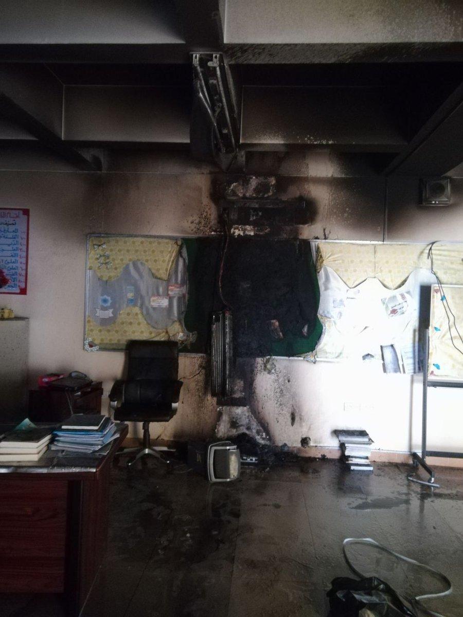 14 إصابة في حريق بإحدى مدارس بركة الموز