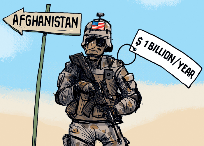 Afghanistan troop boost to cost $1 billion per year