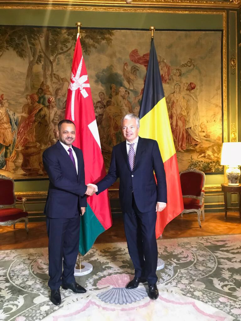 بحث سبل تعزيز العلاقات العُمانية البلجيكية