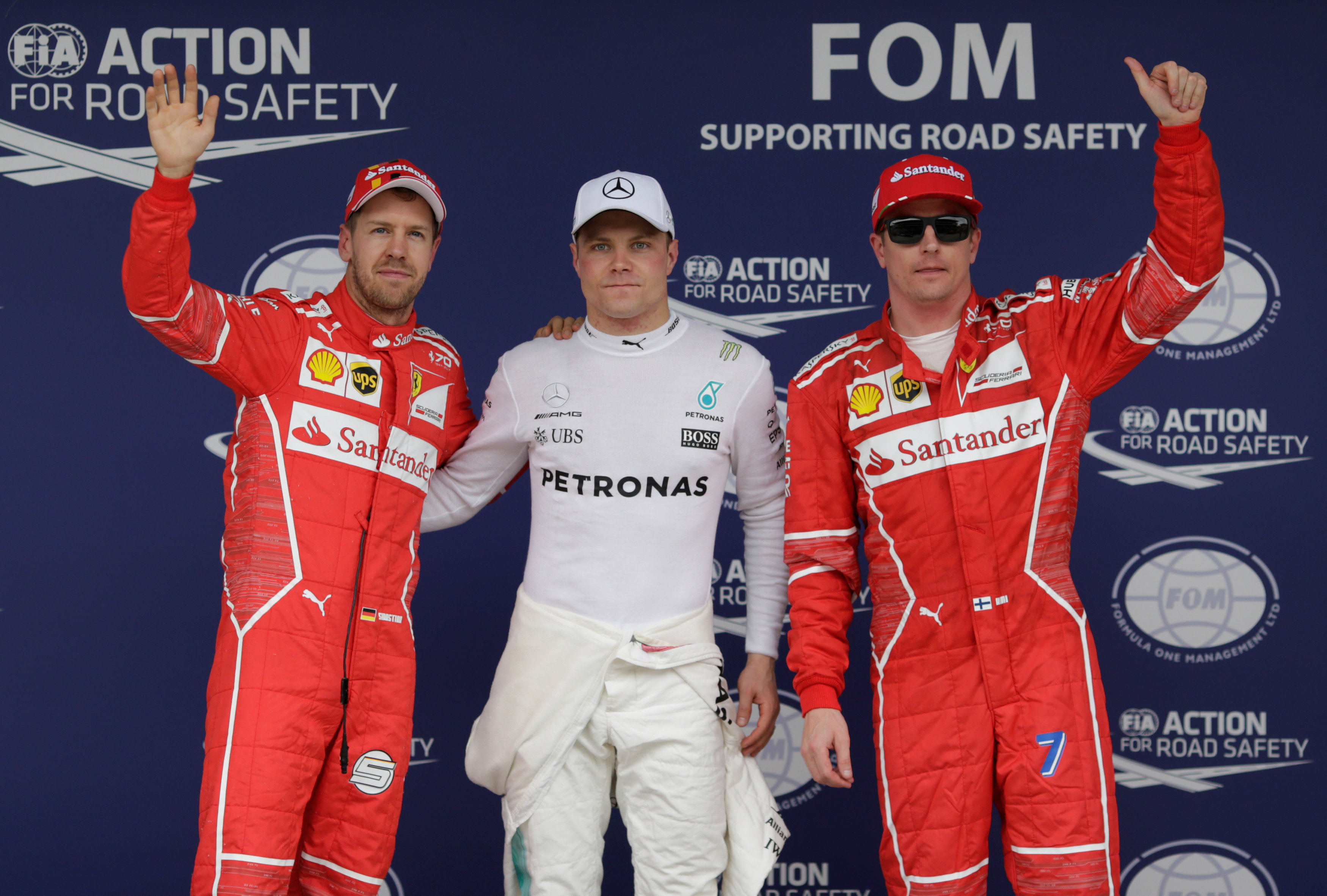 F1: Valtteri Bottas on pole after Lewis Hamilton crashes out