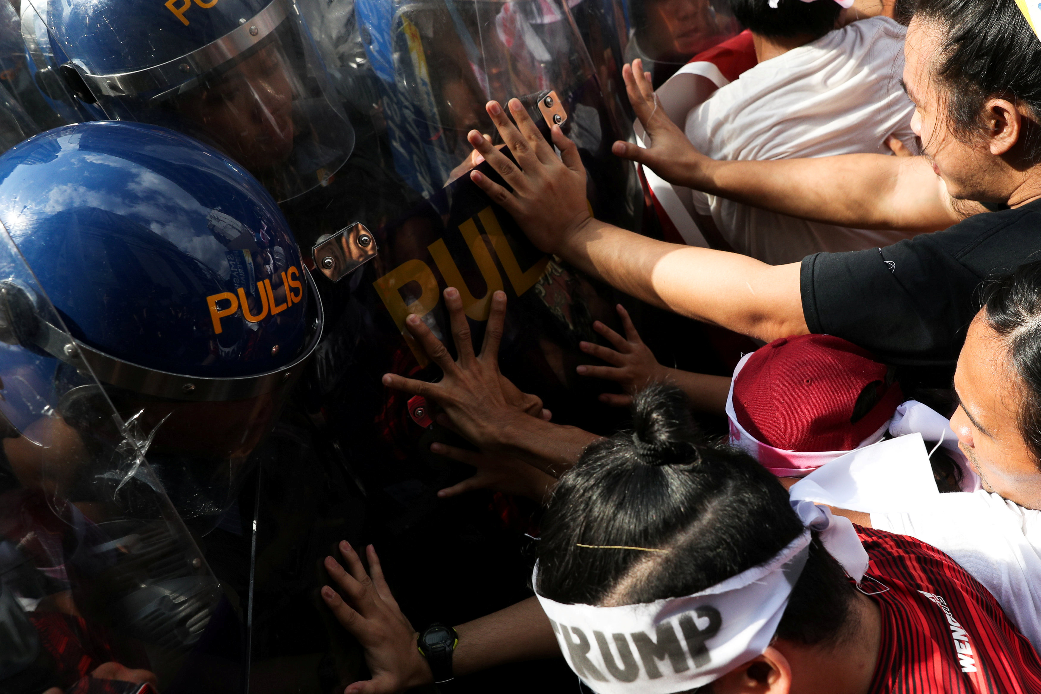 In pictures: Protest against Donald Trump in the Philippines
