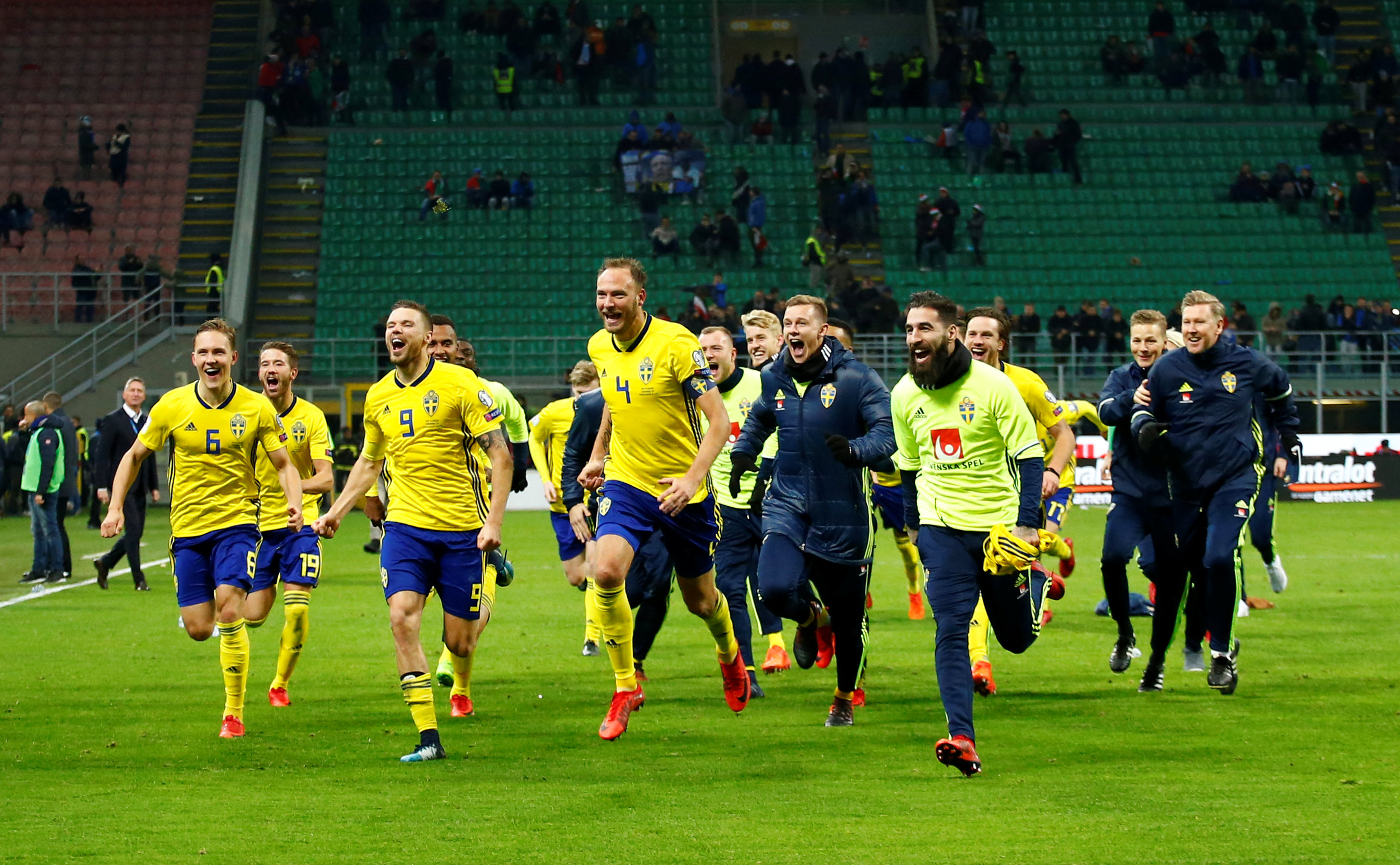 Football: Swedish joy erupts as World Cup spot secured in Italy