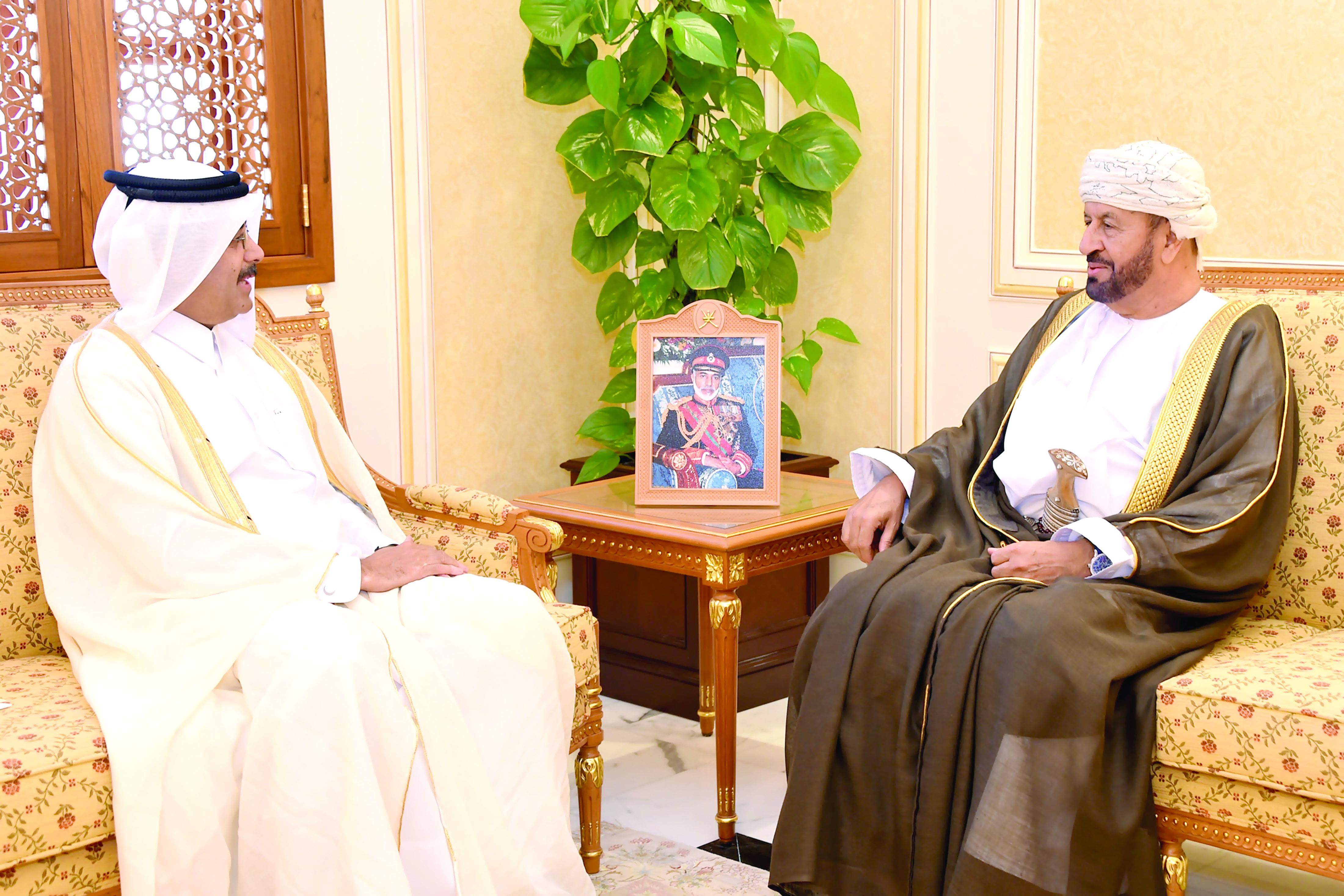 دعوة البوسعيدي لحضور «الدوحة للدفاع البحري»