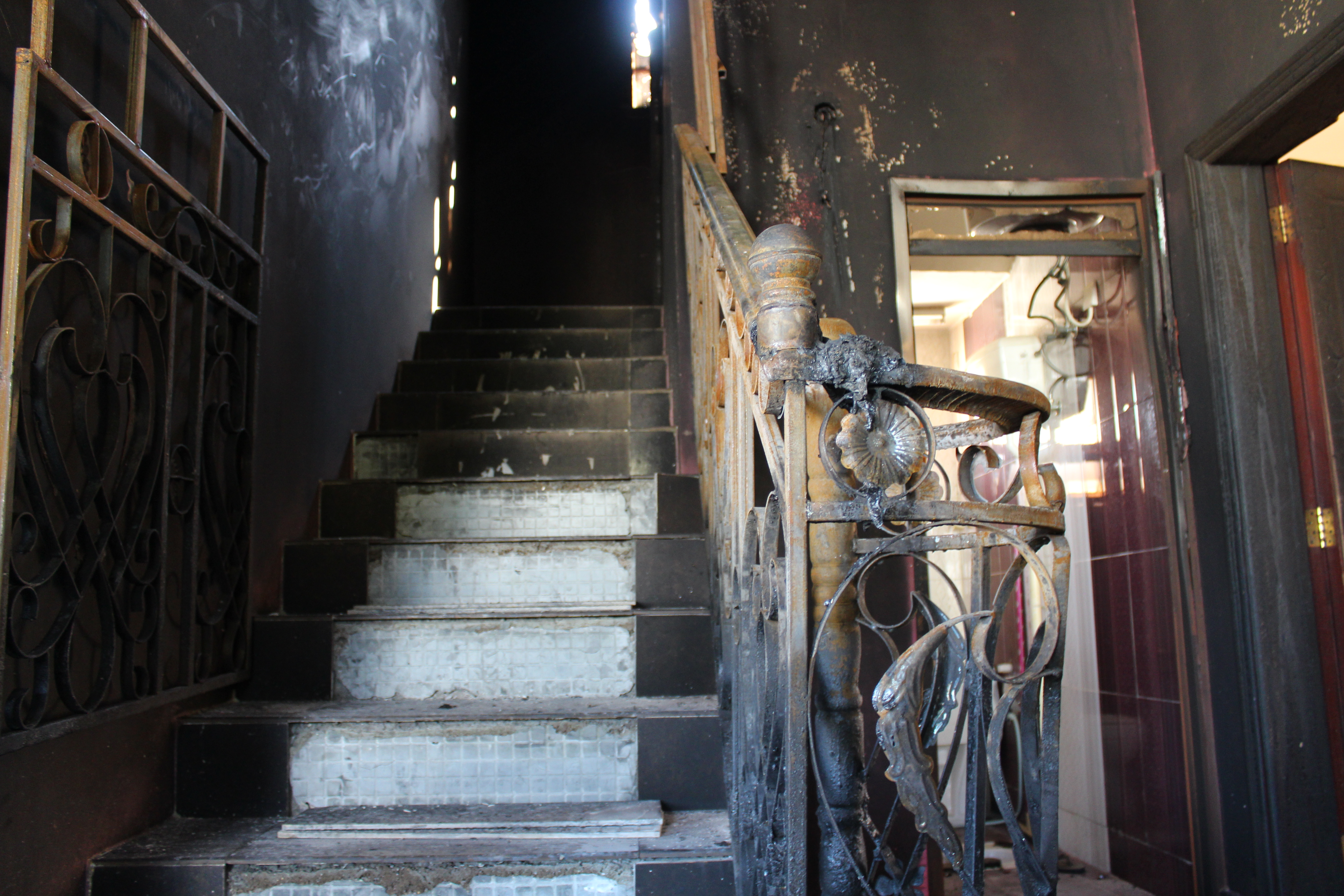 In pictures: Inside the house that went up in flames, killing eight