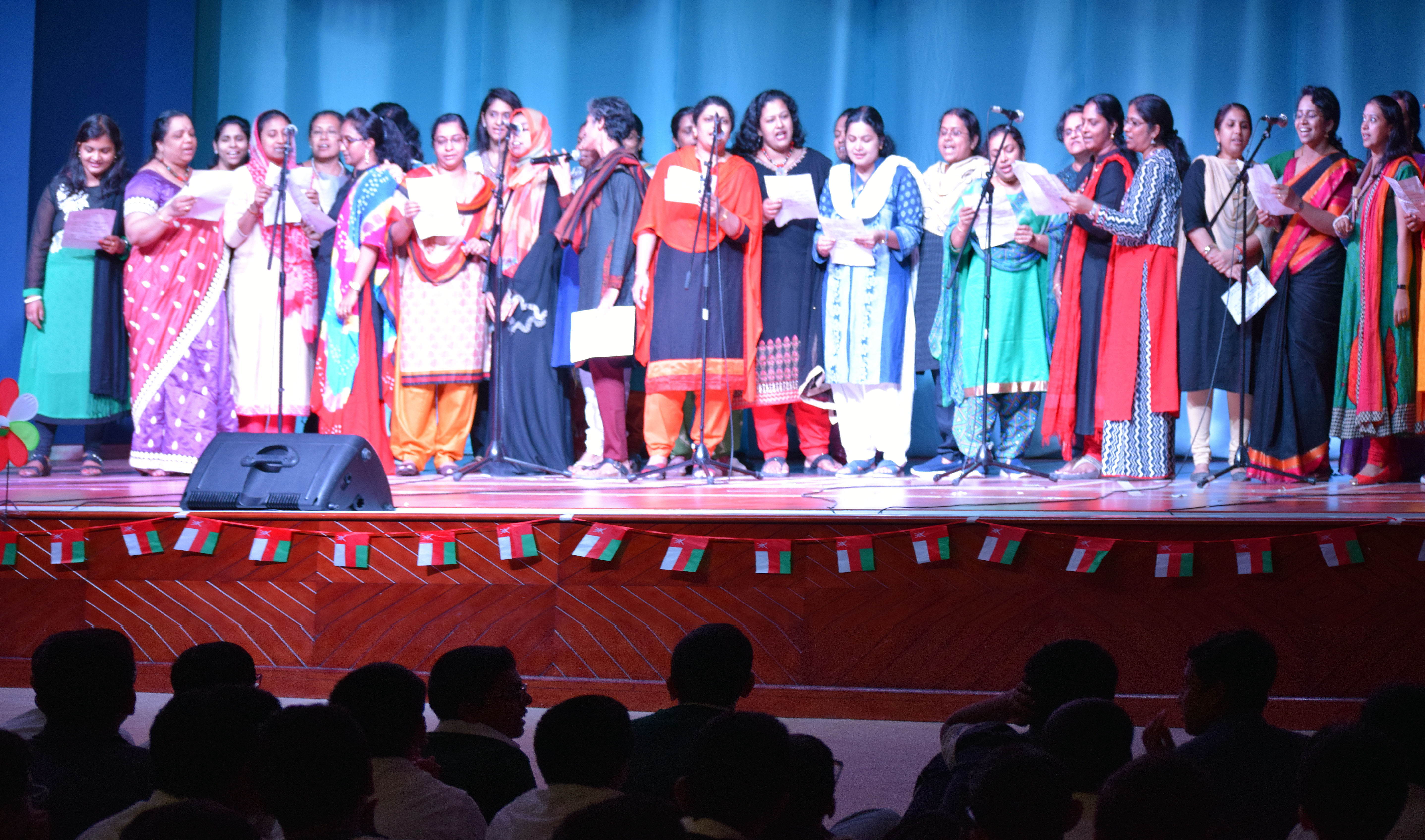 Exciting performance by teachers on children's day at Indian School Ghubra