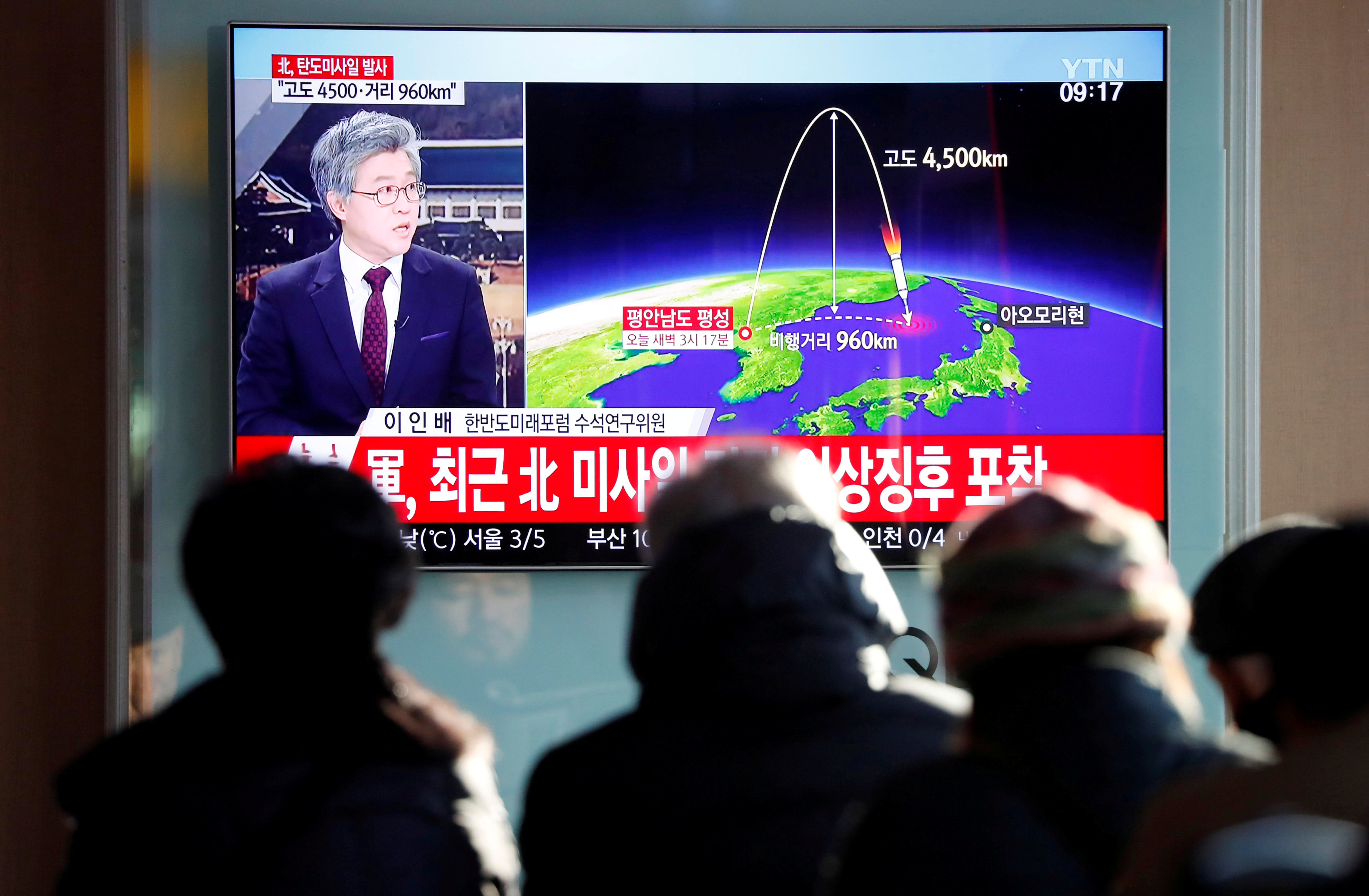 In pictures: North Korea new missile launch