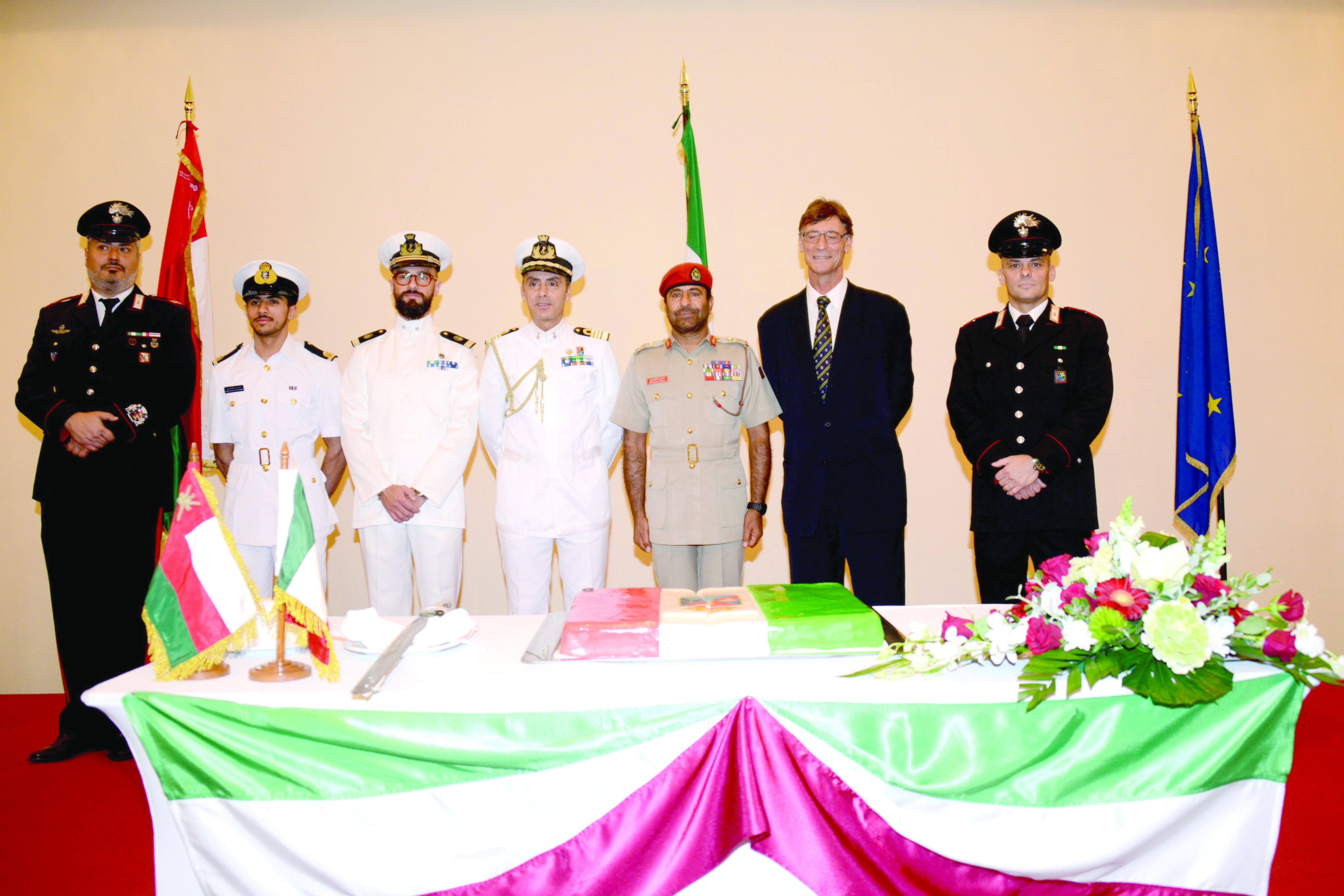 احتفال للملحقية العسكرية الإيطالية