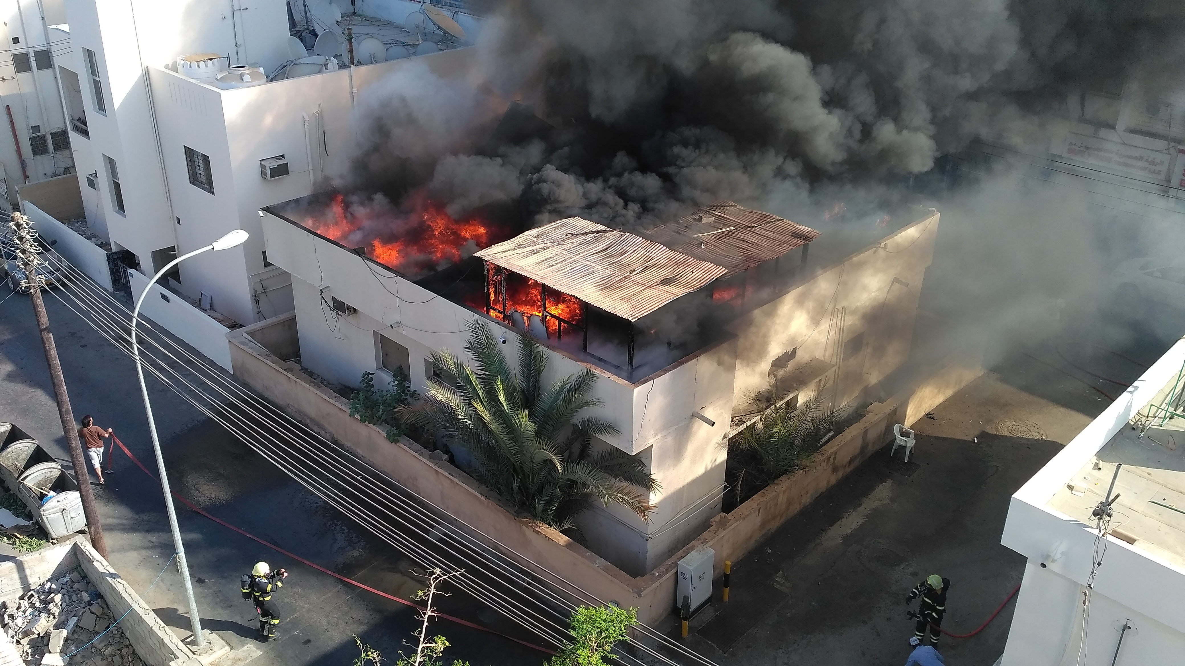 Huge blaze at empty Muscat apartment tackled by firefighters