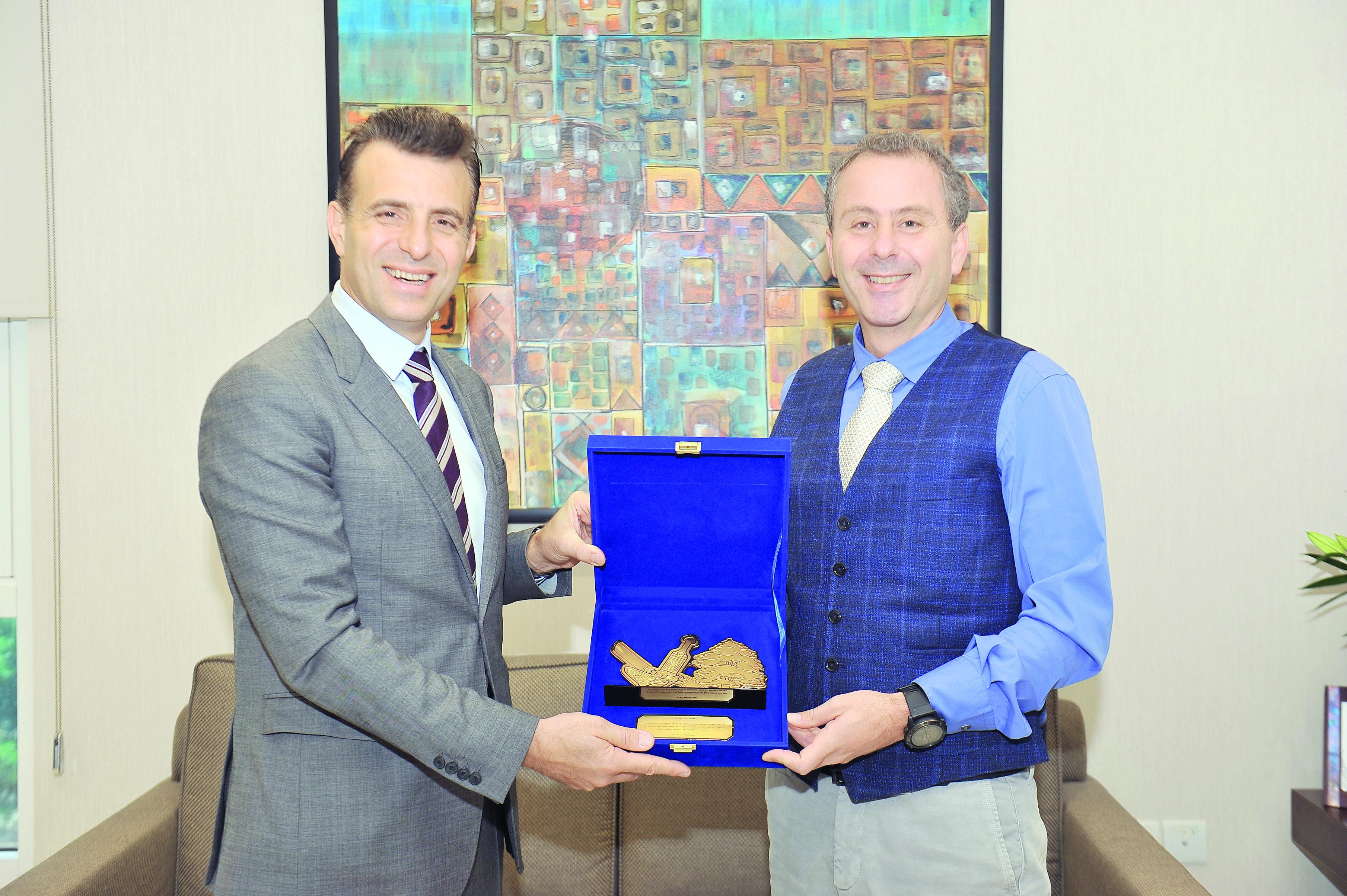 «بنك بيروت» يكرّم السفير اللبناني