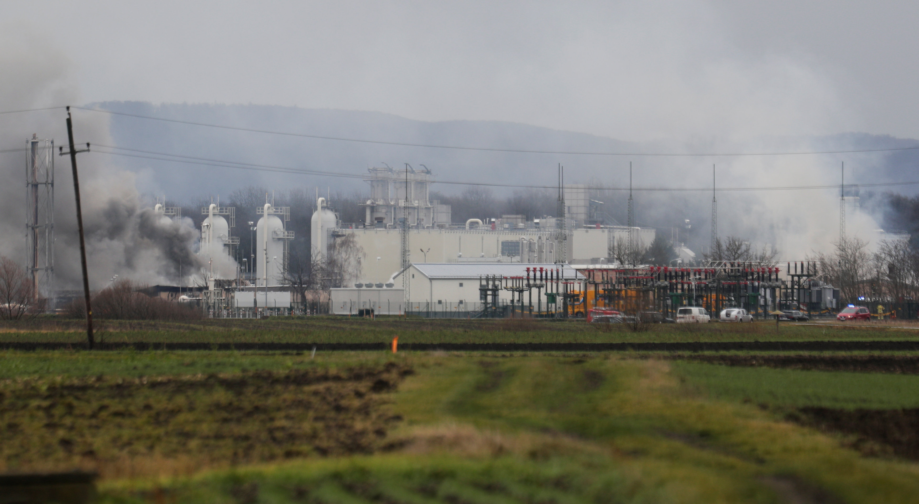 In pictures: One dead in explosion at Austria's main gas hub