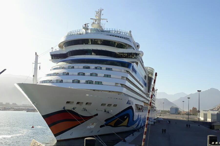 Cruise ship visits Khasab Port
