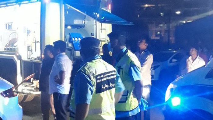 Three injured in Muscat residential building fire