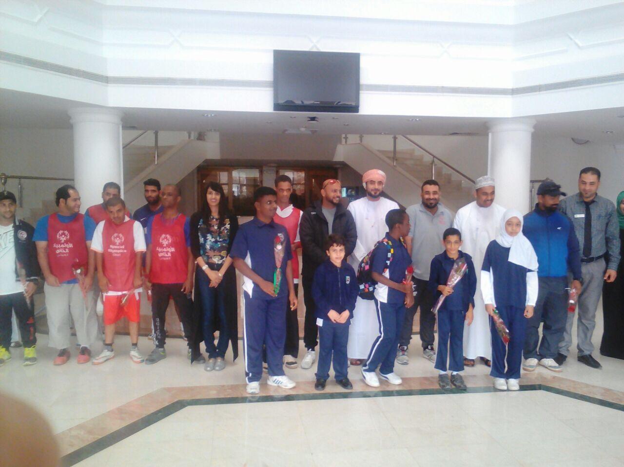 Al Injaz school honoured by the Oman Special Olympics committee