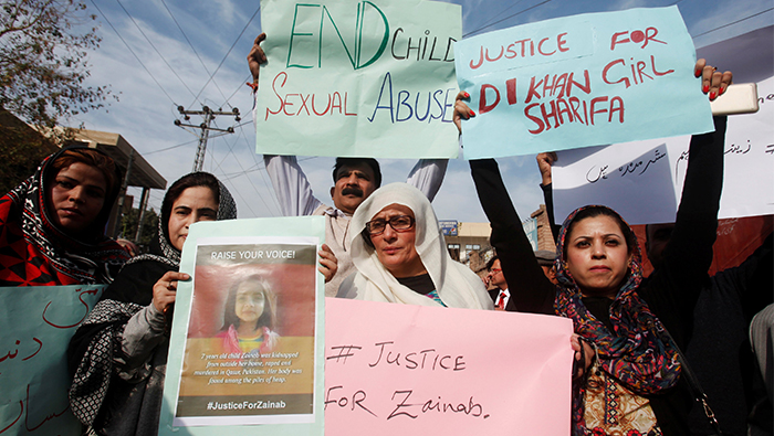 Two dead after protests in Pakistan over rape, murder of 7-year-old