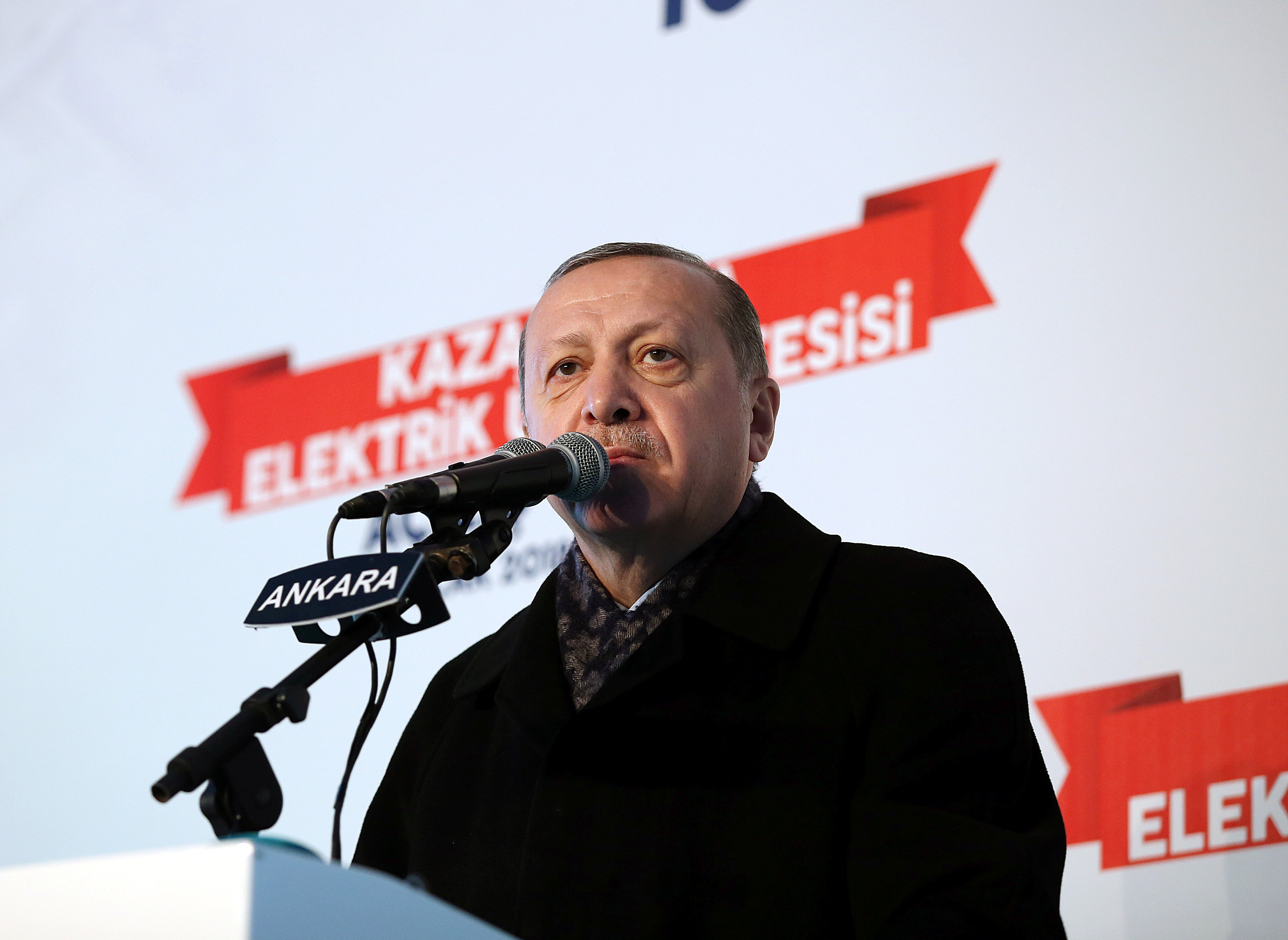 We will 'strangle' US-backed force in Syria before it's even born, says Erdogan