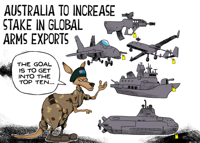 Australia to increase stake in global arms exports