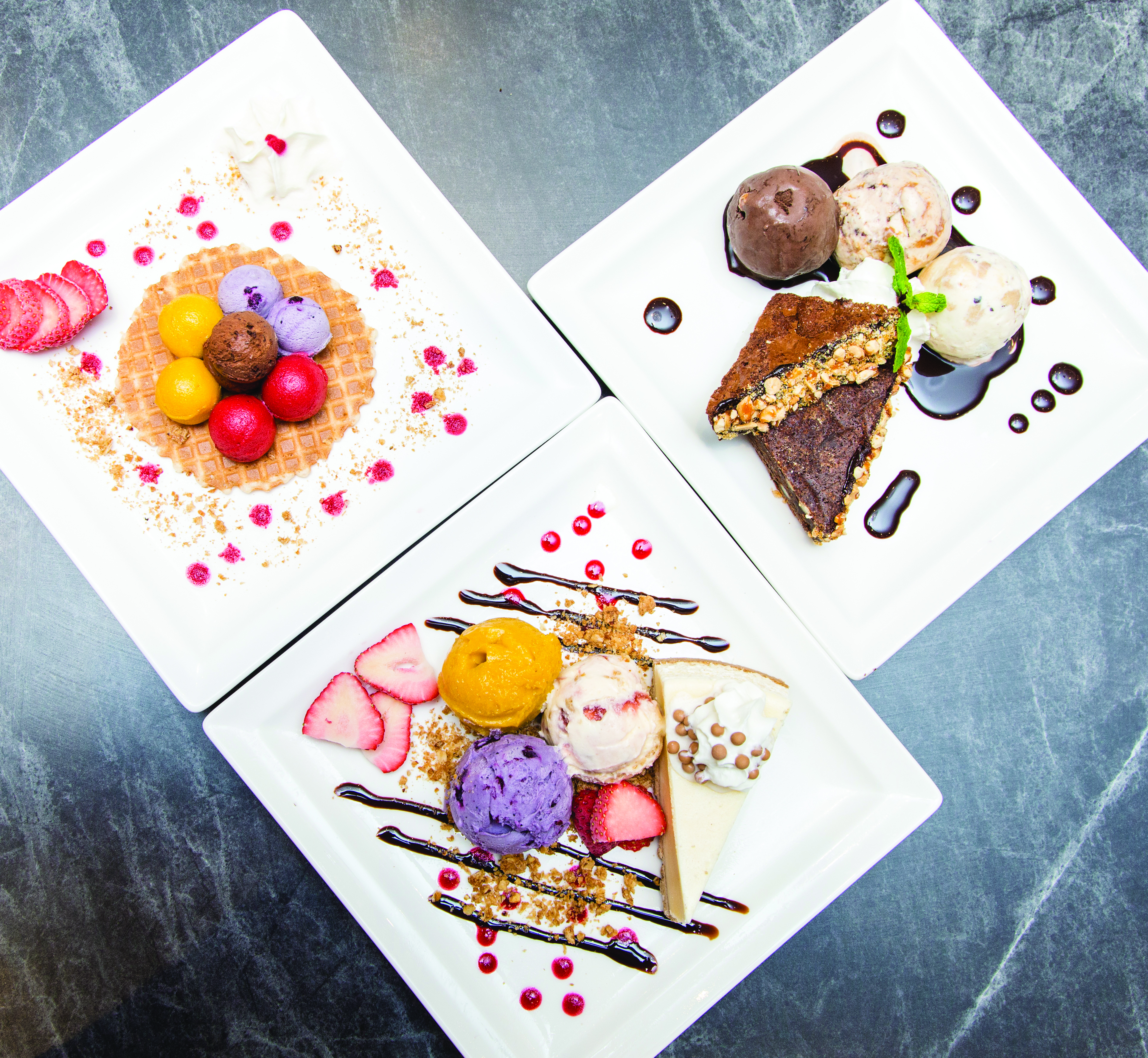 Try out the exotic ice cream flavours at Haagen-Dazs