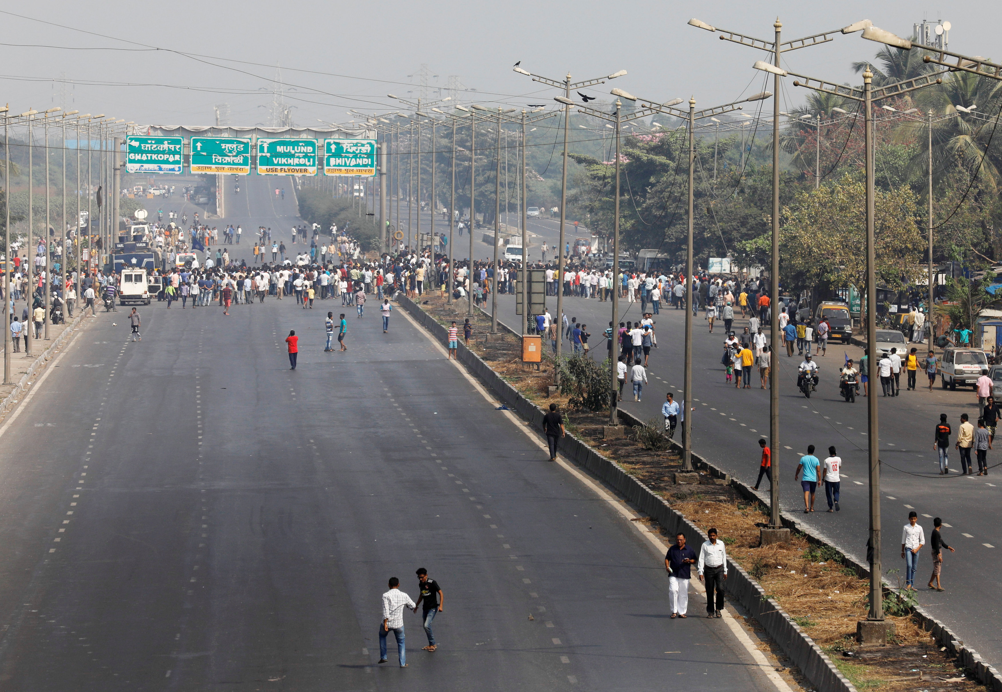 In Pictures: Normal life disrupted in Mumbai
