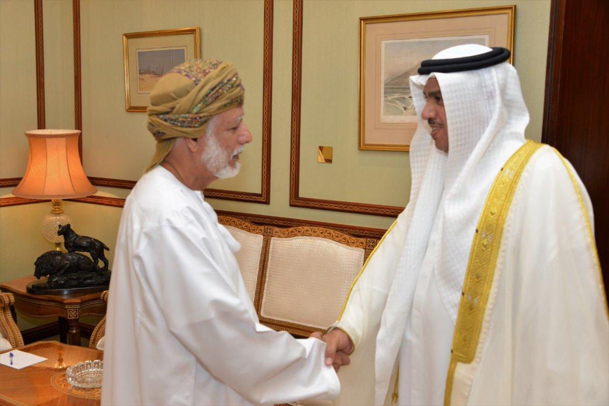 ابن علوي يتسلم نسخة من أوراق اعتماد السفير البحريني
