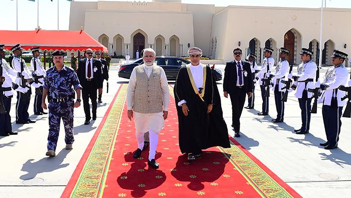 Indian Prime Minister Narendra Modi leaves Oman