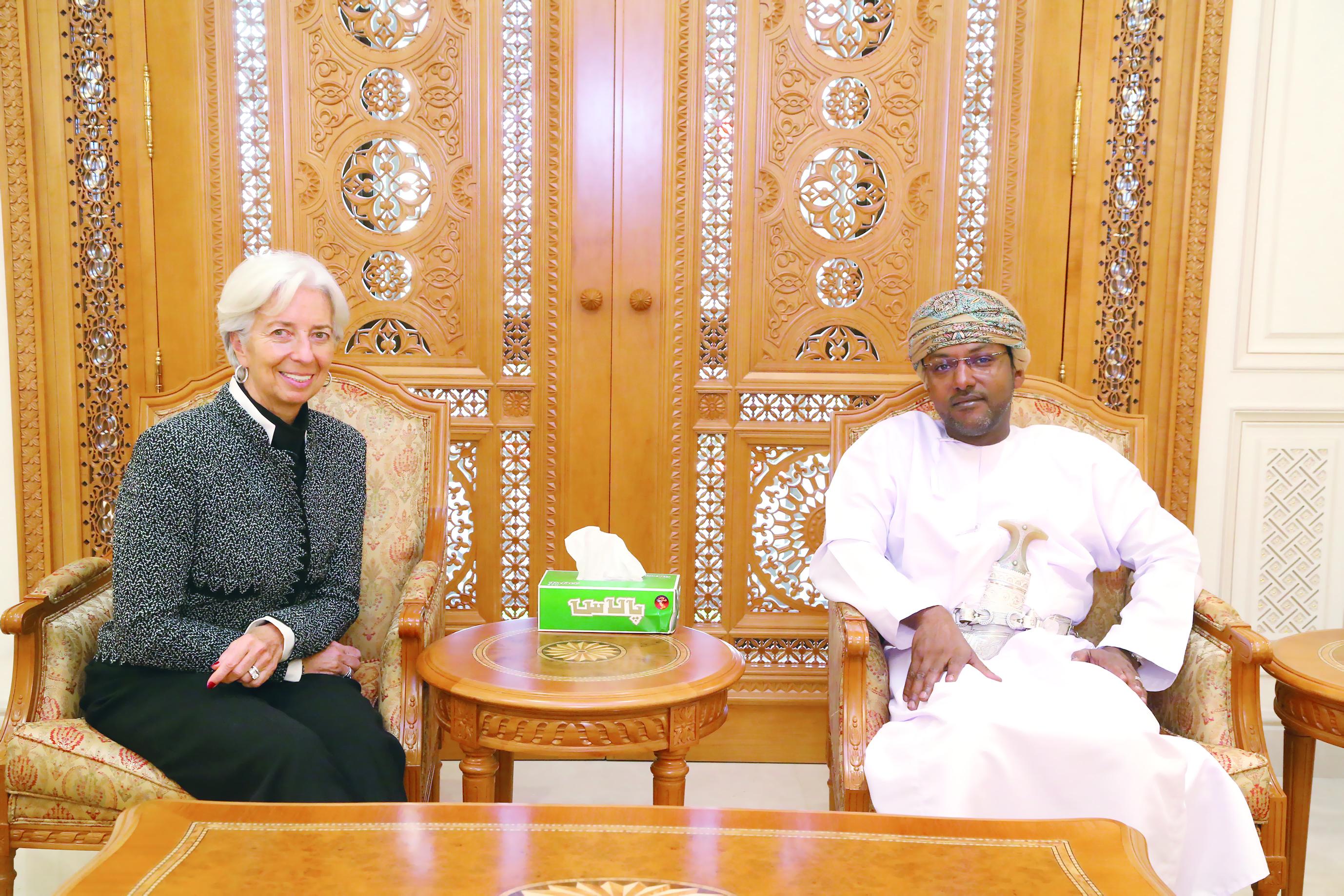 العمري يستقبل مدير عام صندوق النقد الدولي