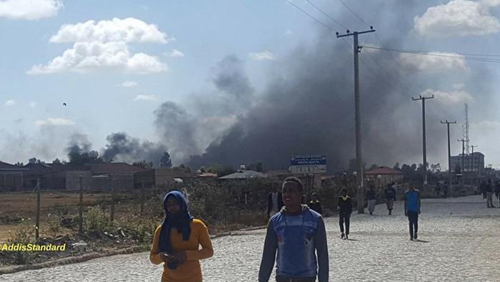 Roads blocked, shops closed in regional protest in Ethiopia