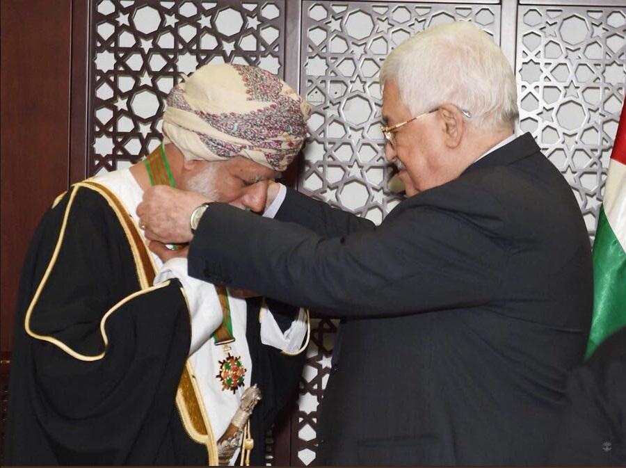 الرئيس الفلسطيني يمنح ابن علوي نجمة القدس الكبرى