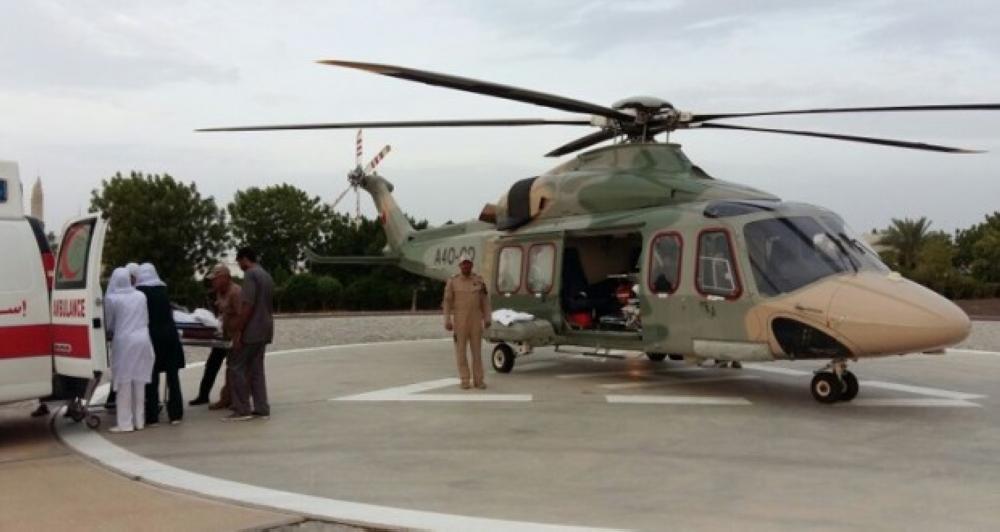 سلاح الجو السلطاني العماني ينفذ عملية إخلاء طبي