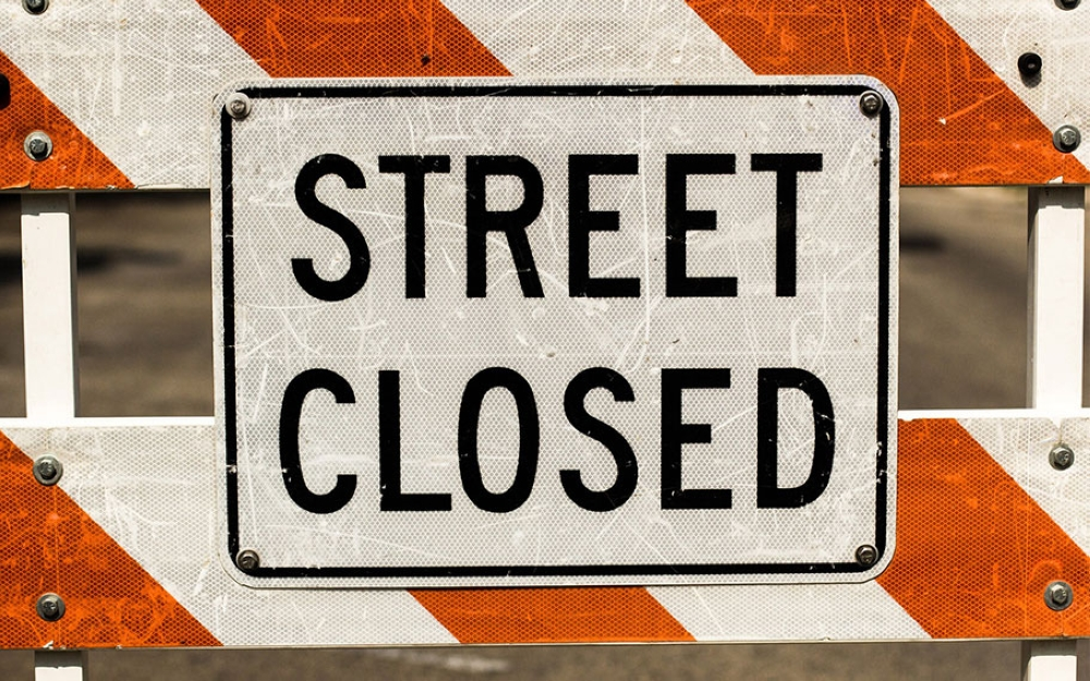 This road will be closed in Muscat